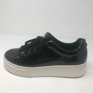 Kenzo Platform Patent Lace-up Fashion Sneakers